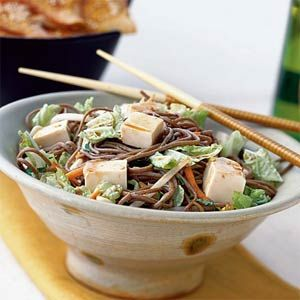 Soba Noodle Salad with Vegetables and Tofu | What's for Dinner ...