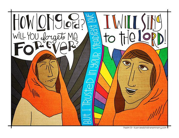 Children's Sermon for Psalm 13 - illustration and guide