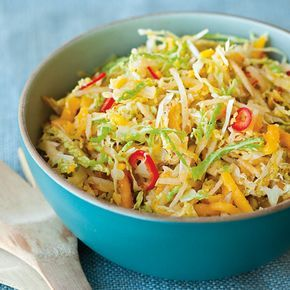 For an Asian twist on traditional slaw, try this coleslaw recipe made with napa cabbage, Asian pear and grated ginger.