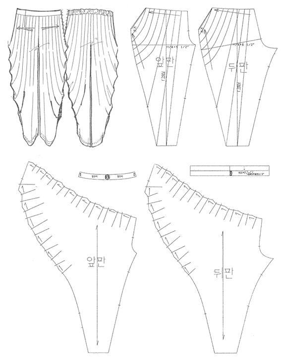 Pattern making - draping - 주름 배기 팬츠 draped jersey sewing pattern More