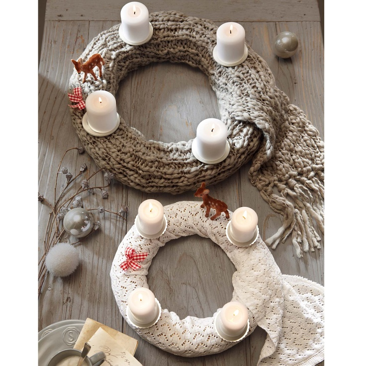 Knitted advent wreath
