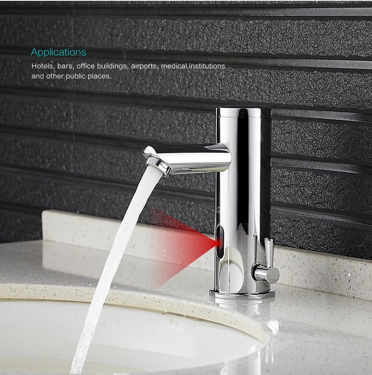 Sensor faucet. Intelligent electronics and touch-free applications.