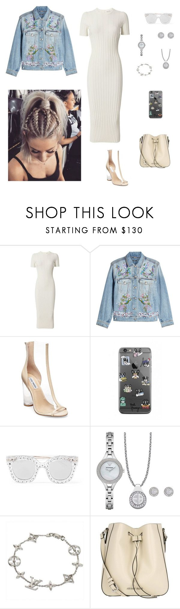 """Без названия #2554"" by gvarjusha ❤ liked on Polyvore featuring Helmut Lang, Alexander McQueen, Steve Madden, Gucci, Emporio Armani, Louis Vuitton and Armani Jeans"