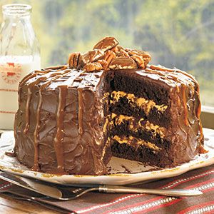 Chocolate Turtle Cake This chocolate cake recipe is a simple, sweet caramel
