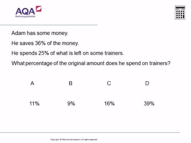 Percentages | Diagnostic Questions