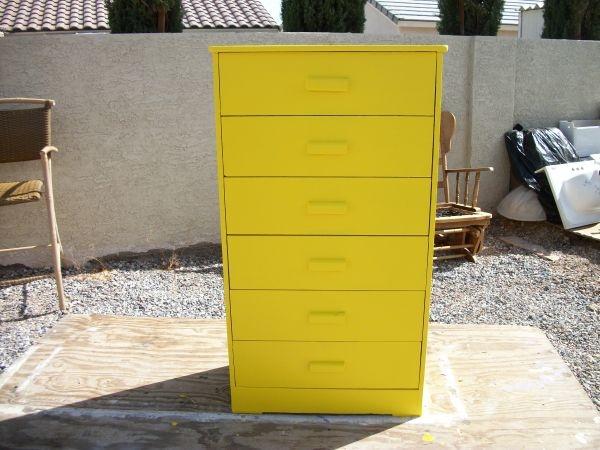 DRESSER, Tall, 6-Drawer, Sunshine Yellow** obo