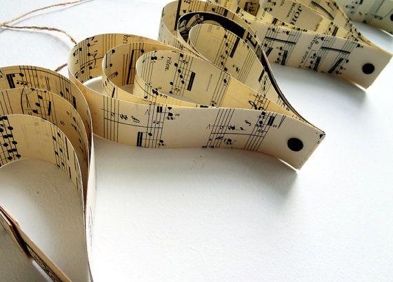 Mariage décoration musique Garland décorations de par Bookity