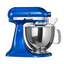 Kitchen aid i blå-metal farve
