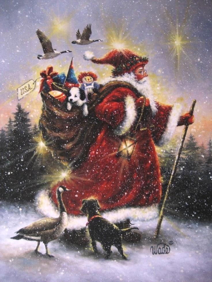 Best 25+ Santa paintings ideas on Pinterest   Christmas canvas ...