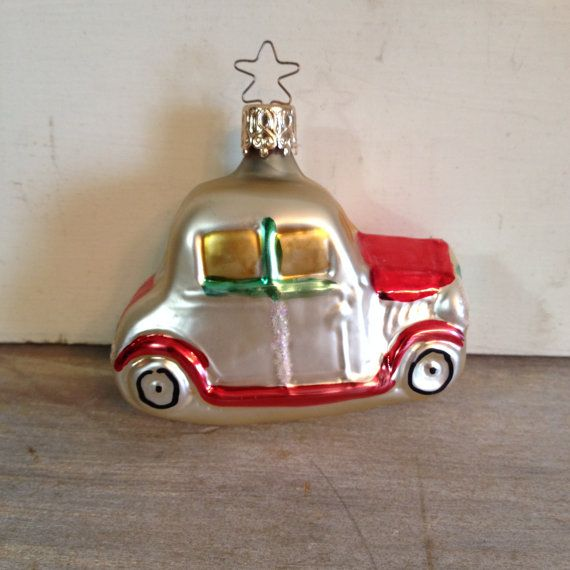 Vintage Car Christmas Tree Ornament