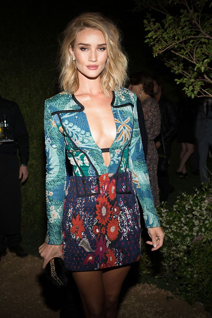Rosie Huntington-Whiteley in Burberry. [Photo by Katie Jones]