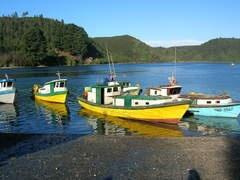 Botes en Angelmó, Puerto Montt - Chile