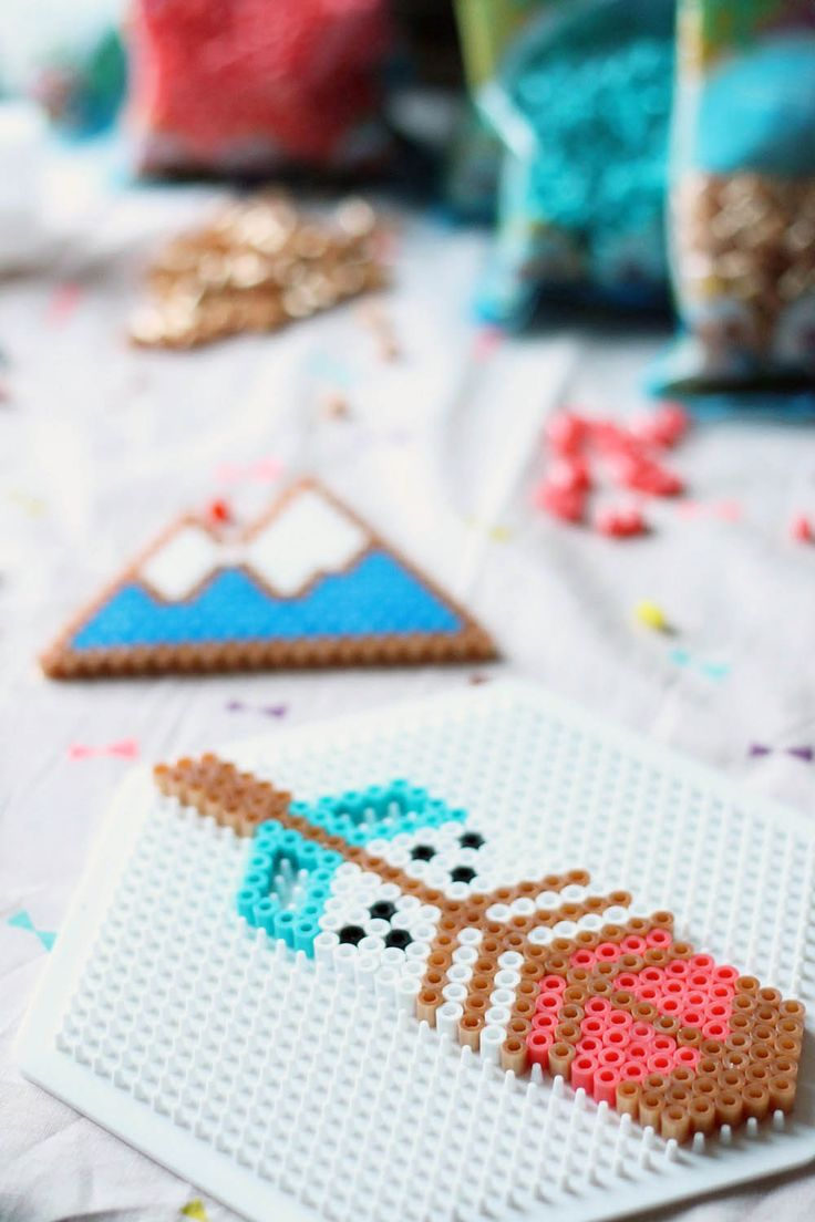 Hama Beads - Brick Stich Miyuki Rose Moustache - perles-hama-miyuki-rose-moustache-3-mymy-cracra - crafts diy pattern tutorial