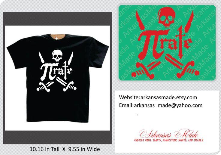 Pi-rate pi day custom shirt, funny pi day shirt, pi day, 3.14, pirate shirt - pinned by pin4etsy.com