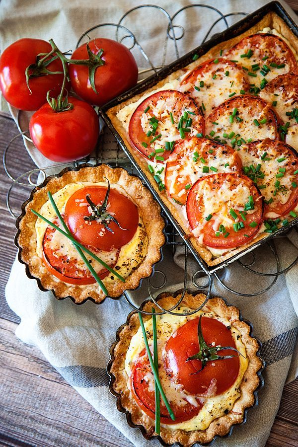 Tomato Tart Recipe - Can't wait to try this with delicious in season tomatoes. -Pinterest: Hamza│₪  The Land of Joy