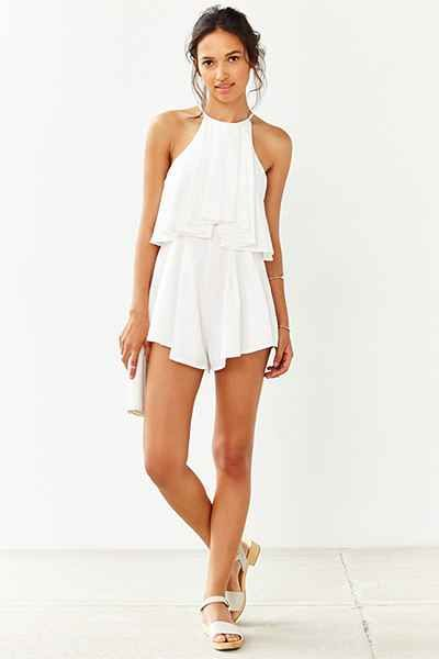 Lovecat Sweep Me Off My Feet Romper - Urban Outfitters