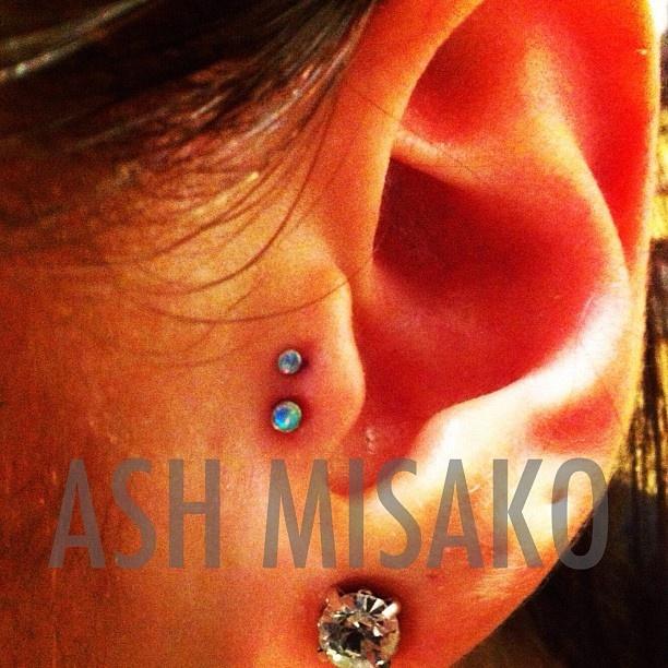 Double Tragus - By Ash Misako  Piercing  Piercings