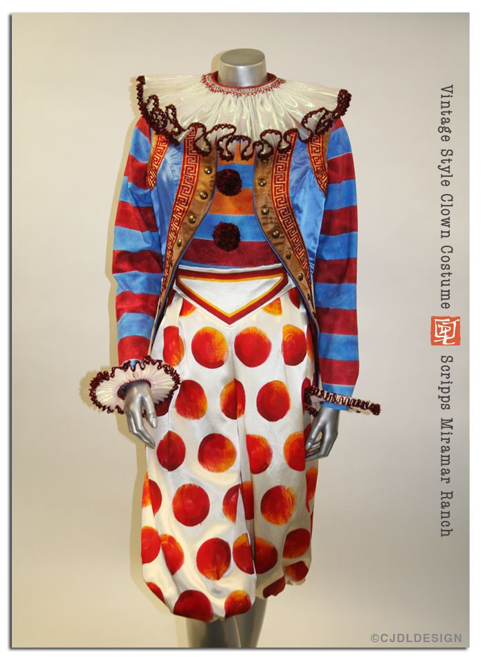 So you wanna be a clown..........Mix your stripes and dots. Wear baggy clothes and big, bright accessories.