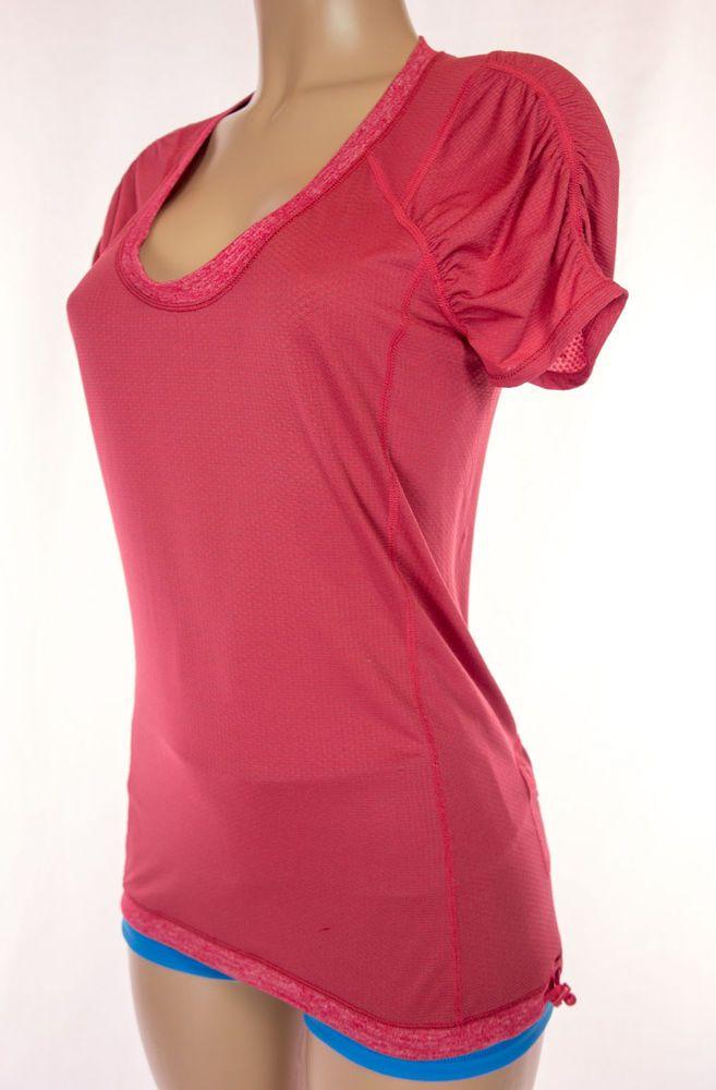 LULULEMON Silverescent Top Size 6 S Small Short Sleeve Drawstring Hem Run #Lululemon #ShirtsTops