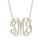 monograms: Silver Necklaces, Filigree Monograms, Gift, Monograms Necklaces, Style, Filigr Monograms, Jewelry, Sterling Silver Filigree, Monogram Necklace