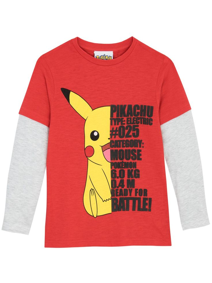 Shop this poke-tastic Pokemon long sleeve top featuring the popular Pikachu. Available in sizes 3 to 13 Years.