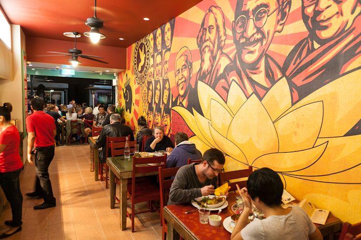 IndiMex Cafe Bar Restaurant, Brisbane, commissioned mural.