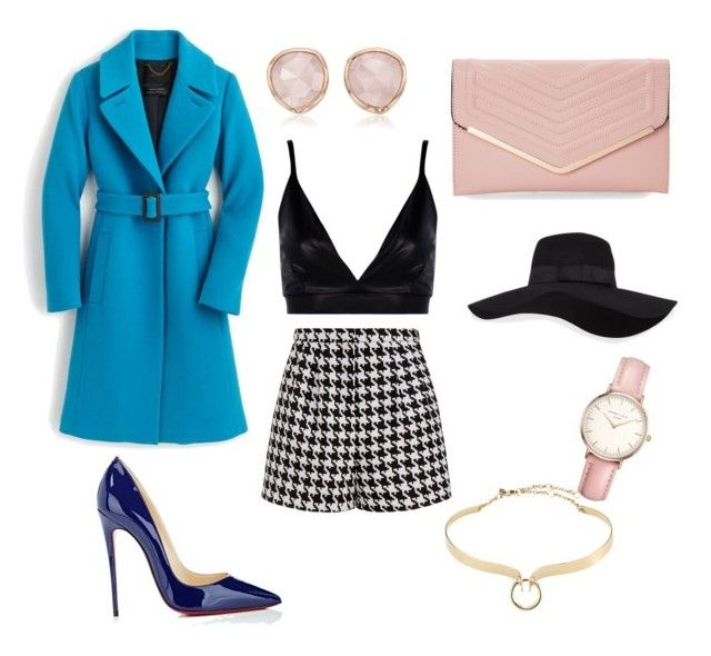 """Blue"" by vikinka-v on Polyvore featuring J.Crew, Emma Cook, Boohoo, Christian Louboutin, Sasha, San Diego Hat Co., Topshop, Monica Vinader and Alexis Bittar"