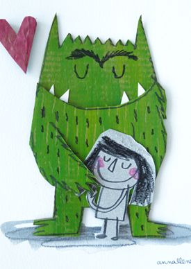 Your Monster by annallenas #Illustration #Monster