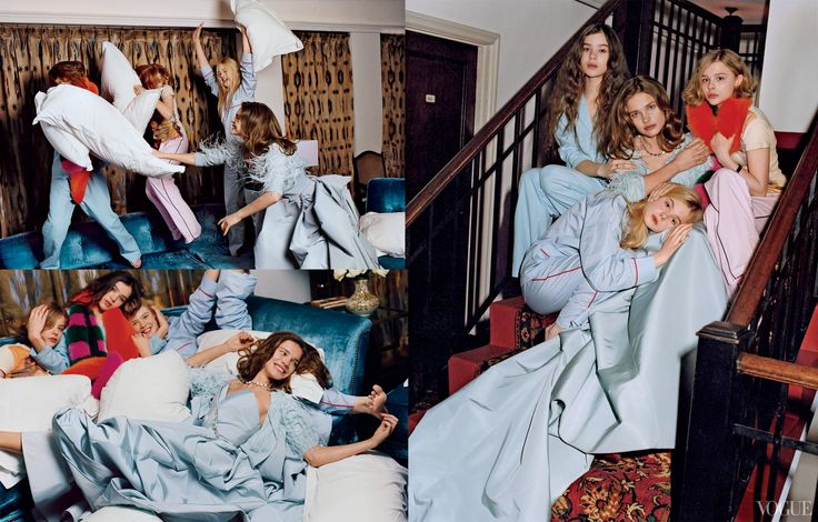 """Hailee Steinfeld, Natalia Vodianova, Chloë Moretz, and Elle Fanning  """"Chateau California"""" Photographed by Bruce Weber, Vogue, May 2011"""
