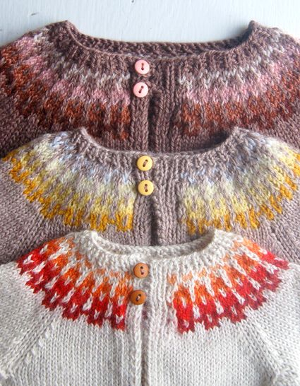 Whit's Knits: Baby Girl Fair Isle Cardigan by the purl bee, via Flickr