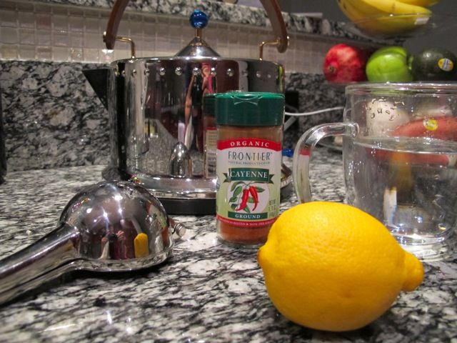 Drink lemon and cayenne water every morning