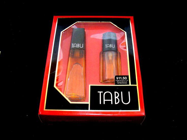 Vintage Tabu perfume set - Tabu eau de cologne - Tabu spray - Tabu perfume set - 1.5 ounce and 1/2 ounce by BECKSRELICS on Etsy