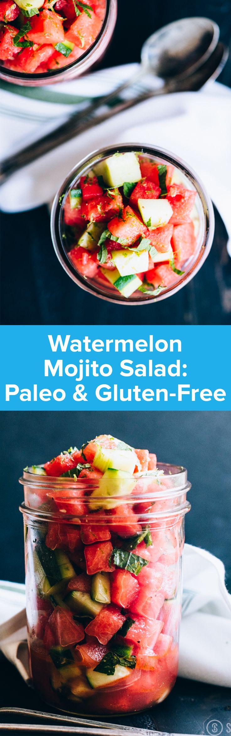 Watermelon Mojito Salad   StupidEasyPaleo.com
