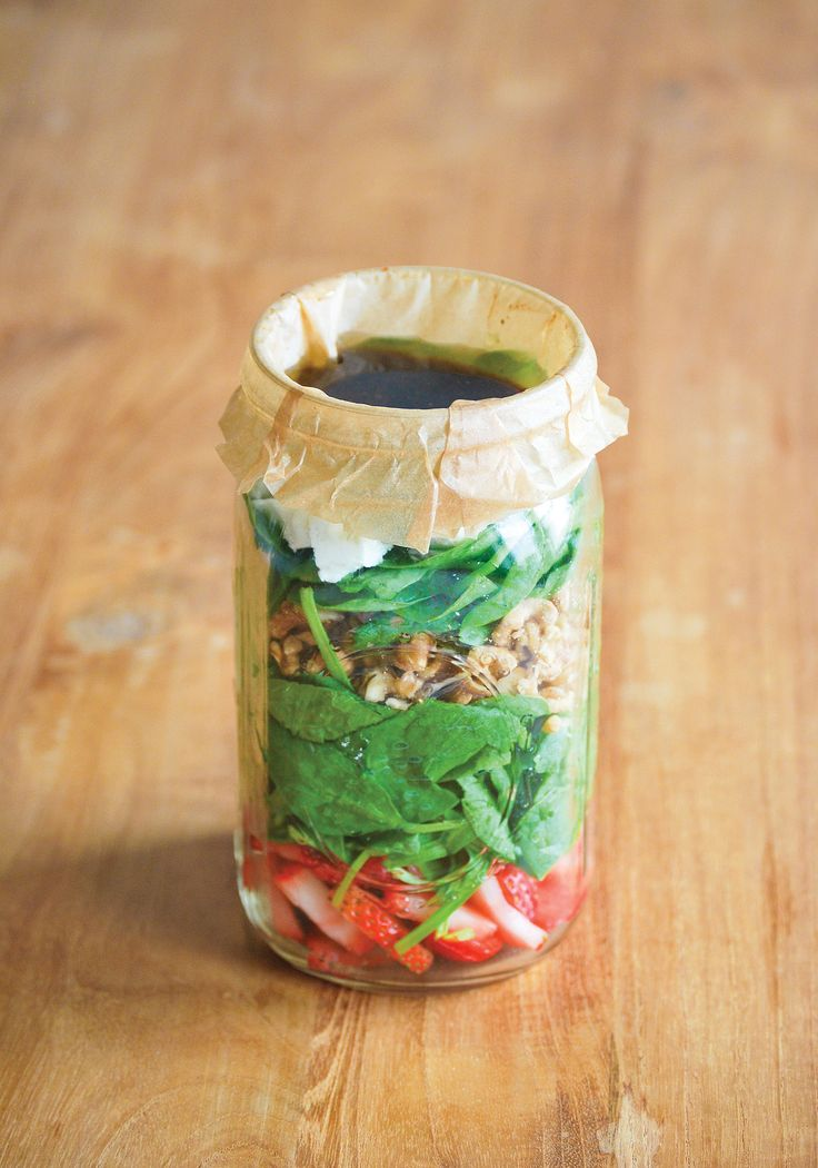 Some of the best salads don't include any firm vegetables, and this can be problematic when it comes to layering your salad dressing at the bottom of the jar. Fruits, for example, will soak up the vinegar in dressing. At least one company sells reusable cups that fit into the tops of mason jars, providing one solution. But for a quick and inexpensive fix, all you need is parchment paper, or even plastic wrap. To use the parchment paper fix, layer your salad in the jar as usual but leave out…