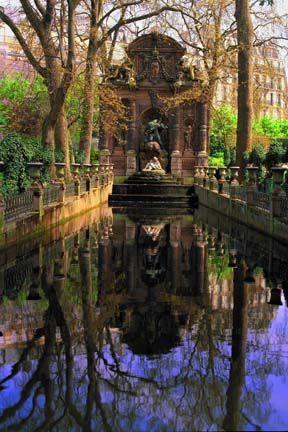 Medici Fountain in Paris.