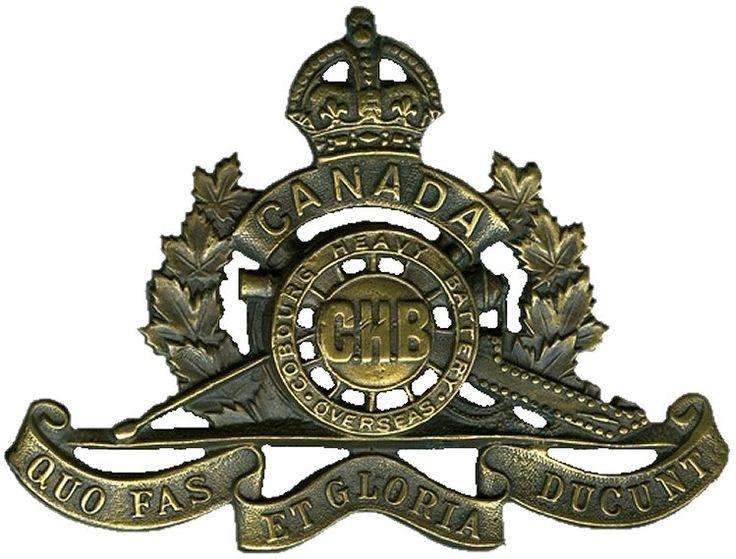 CEF - Cap Badge - Cobourg Heavy Battery - Cobourg, Ontario. WW1.