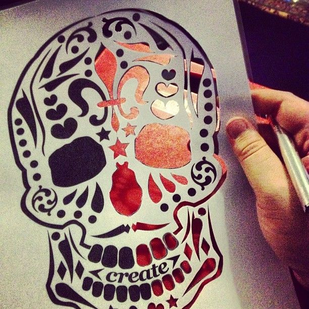 16 best air brush images on pinterest stencil templates skulls stencil cutting yawn airbrush airbrushart skull stencil sugarskull by scott pollard solutioingenieria Choice Image