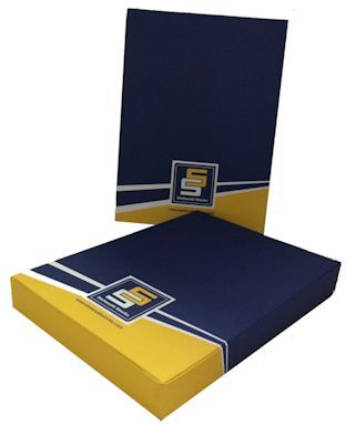 Stefanutti Stocks Gift Boxes for their VIP clients, full colour custom branded