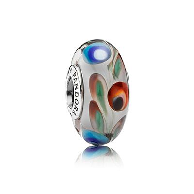 Folklore Murano charm for the colorful bracelet #PANODRAcharm #murano #glasscharm #folklore