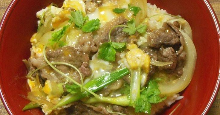 大阪では、牛肉の卵とじ丼を、他人丼と呼びます。