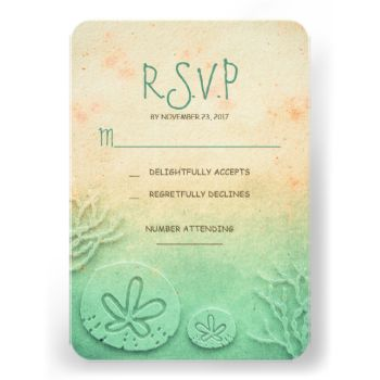 blush teal vanilla ombre watercolor beach wedding response cards with sand dollars and corals. #ombre #wedding #rsvp #seaside #wedding #rsvp #destination #wedding #rsvp #cute #beach #wedding #rsvp #teal #blush #vanilla #sand #dollar #rustic #beach #wedding #rsvp #coral #vintage #beach #wedding #reply #modern #beach #wedding #response #watercolor #peach #nautical #wedding #rsvp #corals #shabby #sand #dollar #rsvp #pretty #sand #coastal #simple #sea #ocean #sea #green #wedding #rsvp #gradient…
