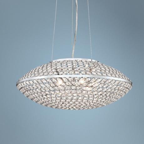 "Possini Euro Geneva 18 1/4"" Wide Crystal Pendant Light -"