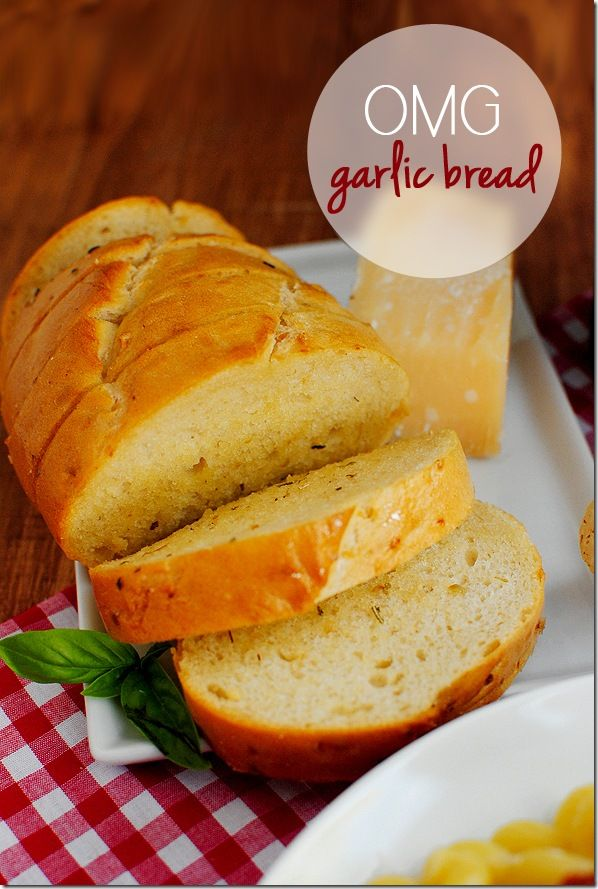 OMG Garlic Bread. Garlic bread so good, it will make you say OMG!  Links to a crock pot spaghetti sauce recipe. Sounds so good I might have to actually get me one of those. Lol