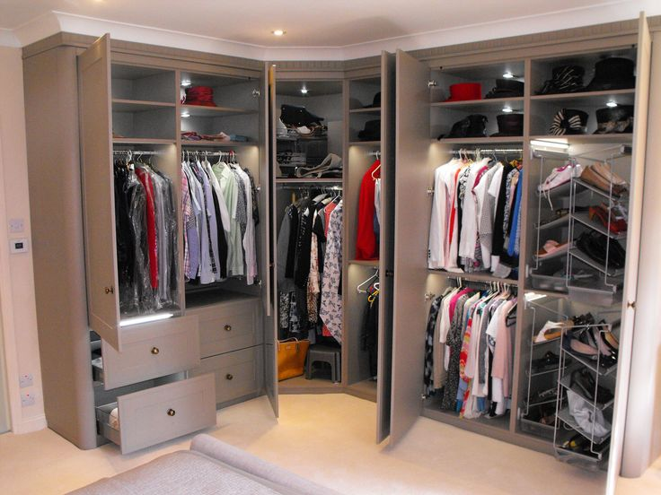 Every girl's dream! The ultimate built in wardrobe storage solution made by Drawers N' Doors Bella using our Bella Tullymore door in Matt Stone Grey.