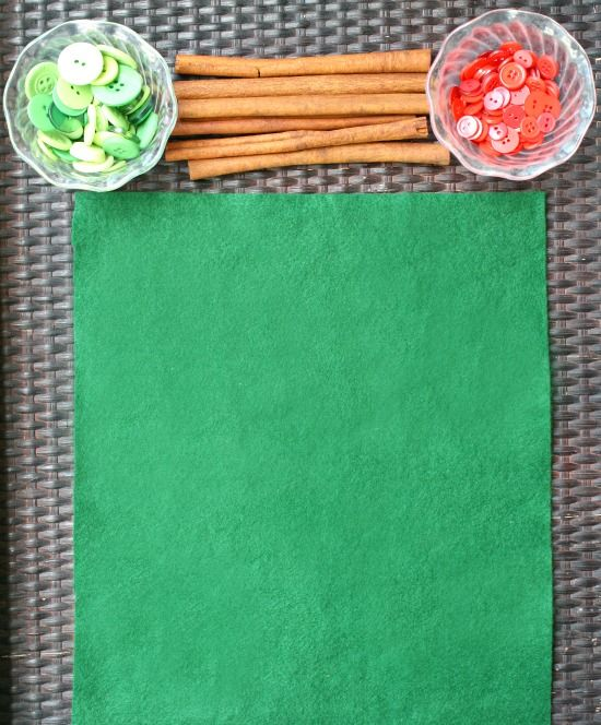 Invitation to Create Apple Trees....combine buttons and cinnamon sticks and invite kids to make their own apple trees. You can leave this as an open-ended activity to do over and over again or glue down the pieces to make a craft.