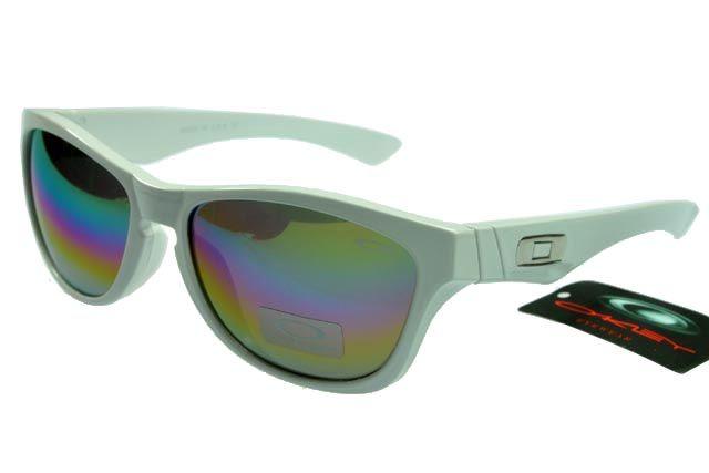 Oakley Active Sunglasses White Frame Rainbow Lens 0058