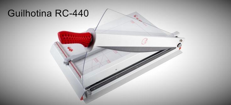 Guilhotina Classica RC-440  Para formatos A3 com inúmeras aplicações.  http://www.amakpost.com/guilhotinas.html?from=pinterest