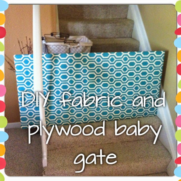 DIY baby gate, for those weird places where you cant fit a regular gate.