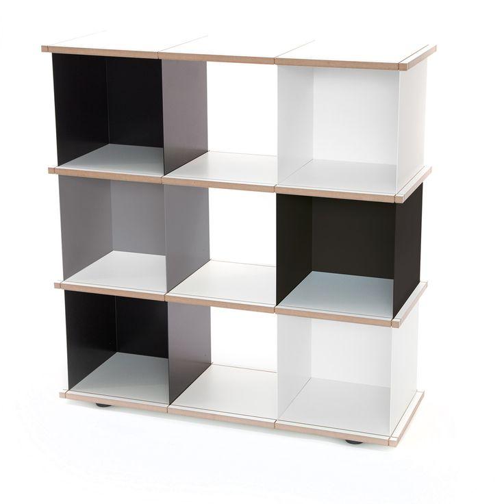 Slawinski & Co. GmbH Konstantin Slawinski - YU Set 3 (3 schwarz, 2 weiß, 1 grau / MDF) Schwarz/Weiß T:37 H:111 B:102