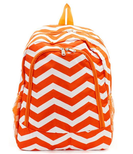 Chevron backpack school bag with by MonogramEnvyBoutique on Etsy, $32.50 baby girl / kids / accessories / back to school